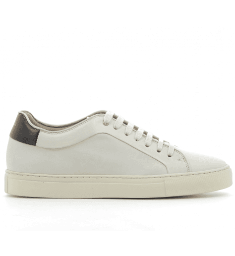 Sneakers en cuir blanc  BASSO WHITE - PAUL SMITH MEN