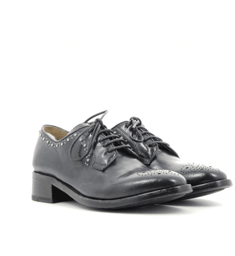Derbies à clous en cuir marine LYDIE 011 - Officine Créative