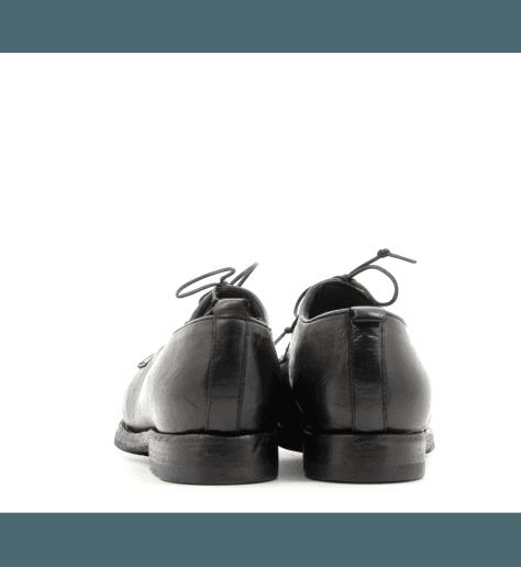 Derbies en cuir noir D52853 - Sartori Gold