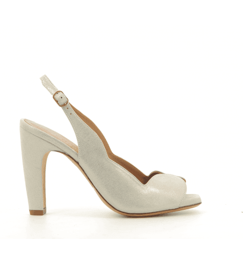 Sandales à talons en cuir irisé serpent TEACHER - Chie Mihara