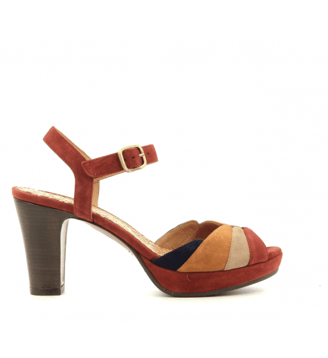 Sandales talons moyens tricolores EDITA- Chie Mihara
