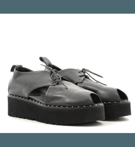 Sandales noires à semelles épaisses  4540N fruit now - Garrice Collection