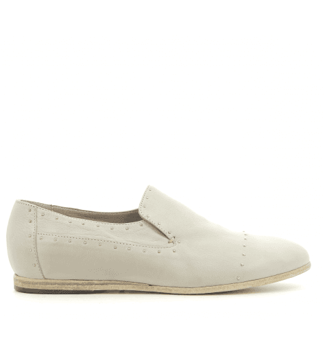 Mocassins plats en cuir gris perle 4562G fruit now - Garrice Collection