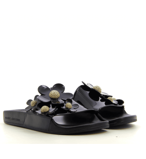 Sandales en plastique DAISY SLIDE BLACK  - Marc Jacobs