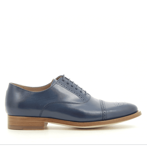 Derbies en cuir marine BERTIE  NAVY- Paul Smith