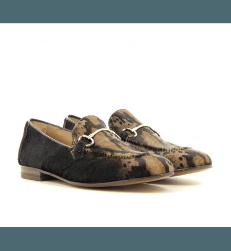 Mocassins en poulain leopard D003PONY - Henderson