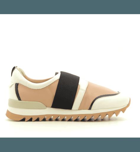 Sneakers  en cuir noir  035- Grey mer