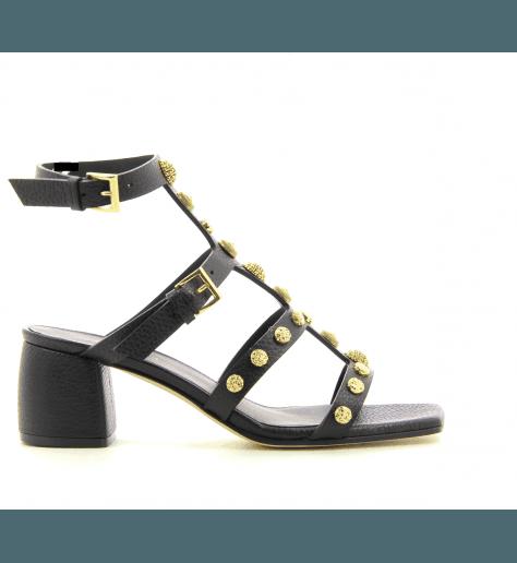 Sandales en cuir noir 726 - Greymer
