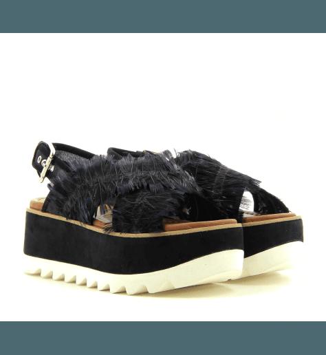 Sandales plateformes  noir M4729 - Premiata