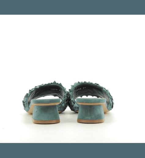 Mules à talons bleue M4852 - Premiata