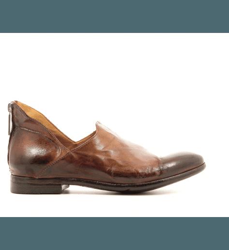 Boots courtes en cuir camel AI16C - Lemargo