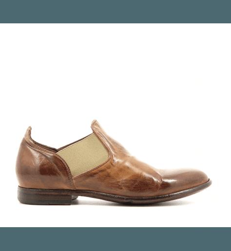 Chelsea Boots courtes en cuir camel BD04 - Lemargo