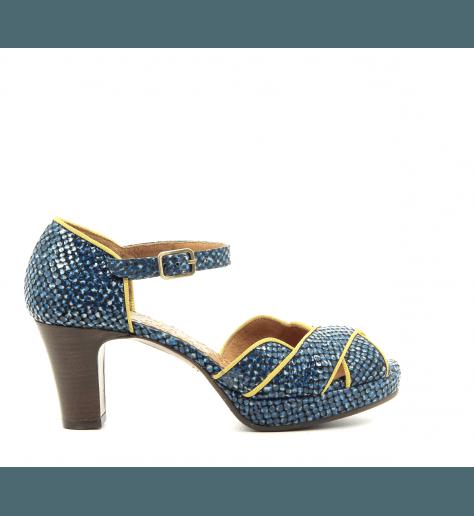 Sandales à talons avec plateformes bleu ISY-C32- Chie Mihara