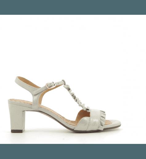Sandales à petits talons argent LAUBO SILVER- Chie Mihara