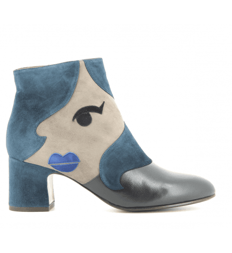 Bottines en veau velours multicolore  NALA - Chie Mihara