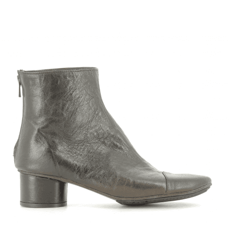 Bottines en cuir marron 823401M - Garrice Collection