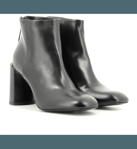 Bottines à talons en cuir noir  M5065- PREMIATA