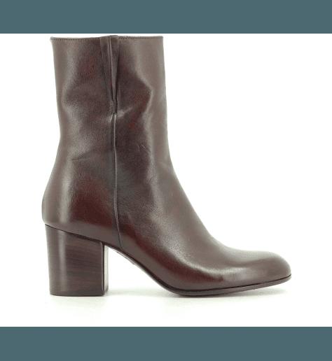 Boots cuir Bordeau 11782F - Pantanetti