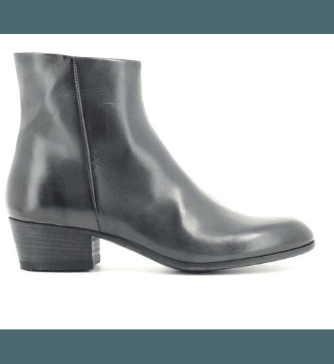 Boots cuir noir 11690F- Pantanetti