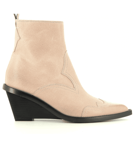 Bottines en veau velours rose  S59WU0071/236- MM6 Martin Margiela