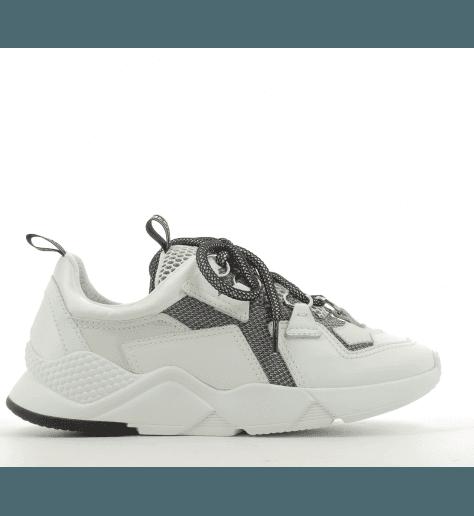 Sneakers Noir&Blanc à semelle épaisse MYGREY TOKYO 010B - Greymer