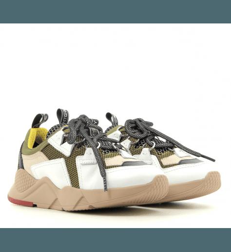Sneakers color block à semelle épaisse nude MYGREY TOKYO 010N - GreyMer