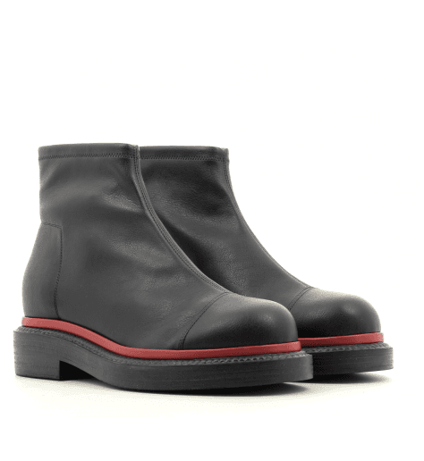 Bottines plates en cuir stretch noir QUIENN 326 - GreyMer