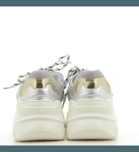 Sneakers Blanche et argent 1931A - Lemaré