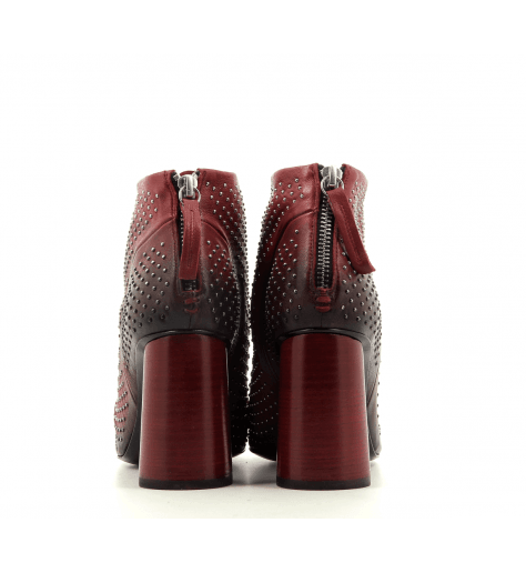 Bottines en cuir rouge  GIOVI11R - Halmanera