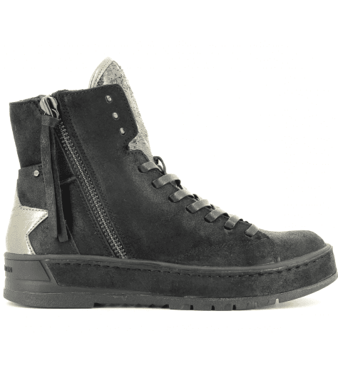 Sneakers en cuir noir  HACKNEY 25410 - Crime London