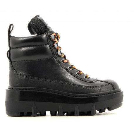 Boots en cuir noir SHAY WEDGE HIKING BOOT - Marc Jacobs