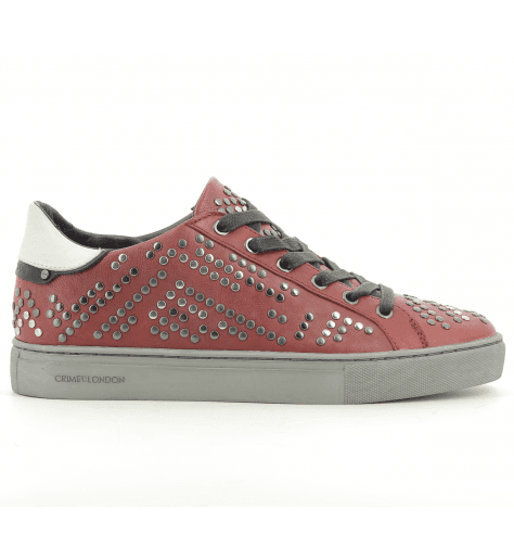 Sneakers  en cuir bordeaux  BEAT 25124 - Crime London