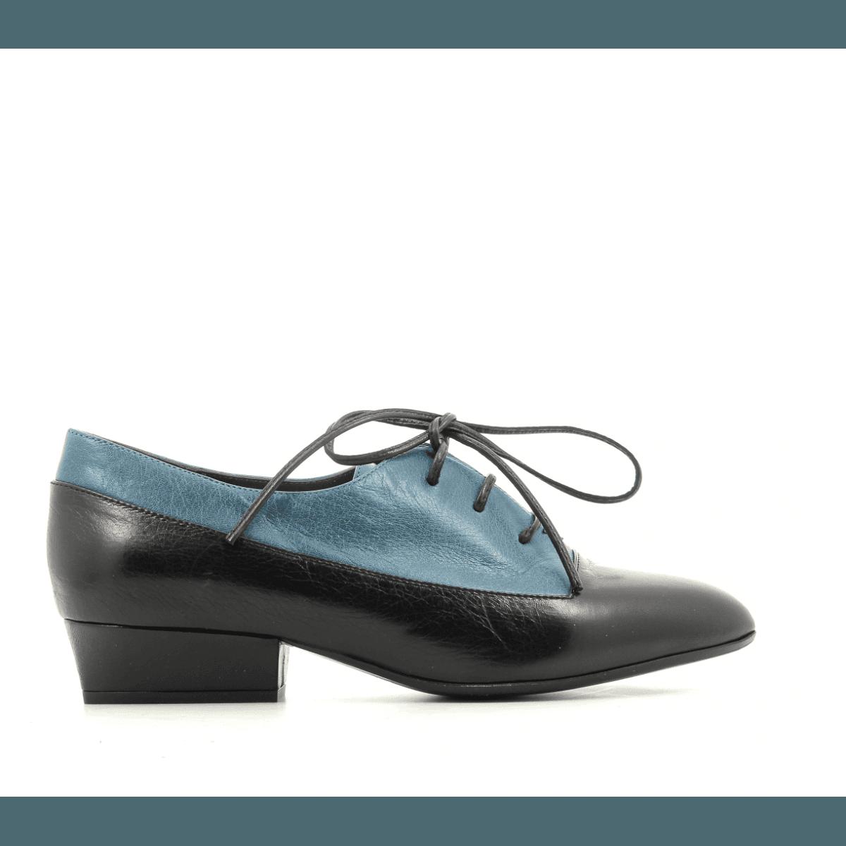 Derbies à petit talon en cuir noir et bleu Marc Jacobs - COLOR BLOCK OXFORD 58585a202af5