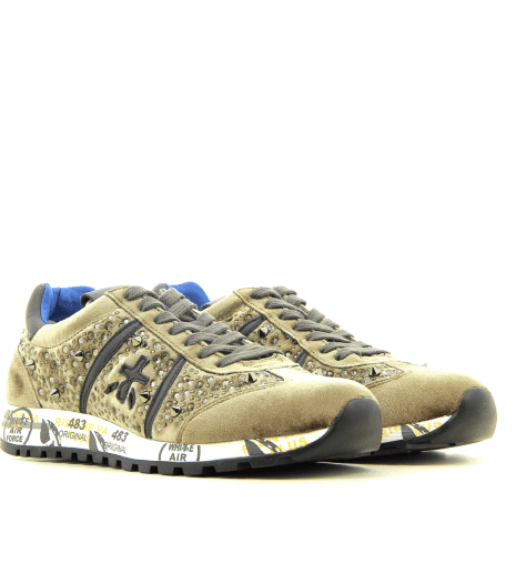 Baskets en velour bronze et strasses PREMIATA - LUCY 3539B
