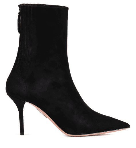 Bottines pointues en suede noir et talon aiguille Aquazzura - SAINT HONORE