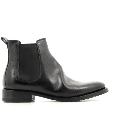 Bottine plates en cuir noir Henderson shoes - 22D01