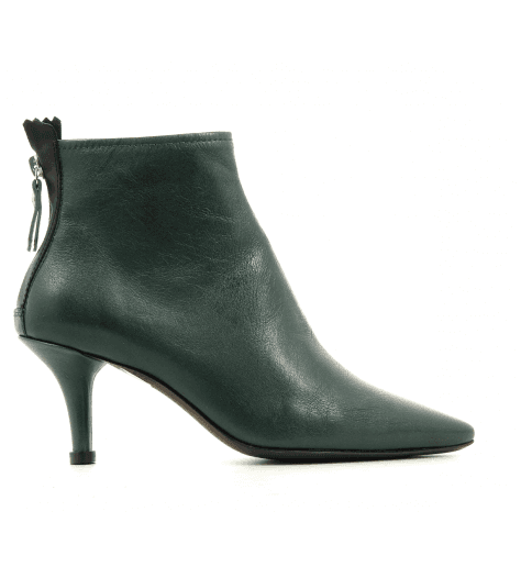 Bottines pointues en cuir vert AGL - D239501