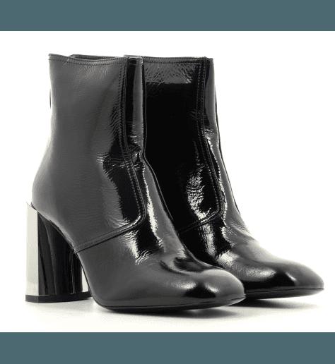 Bottines  en cuir noir à talon miroir M5067 - PREMIATA