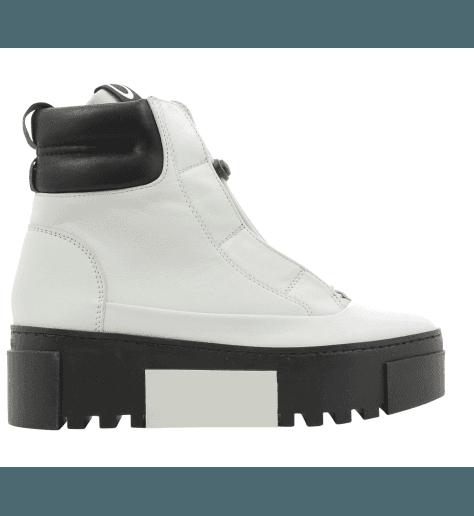 Baskets boots à semelle épaisse noir et blanc Vic Matie - 6886B