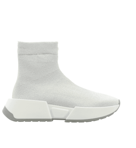 Sneakers blanche façon chaussette logo  S59WS0062/963- MM6 Martin Margiela