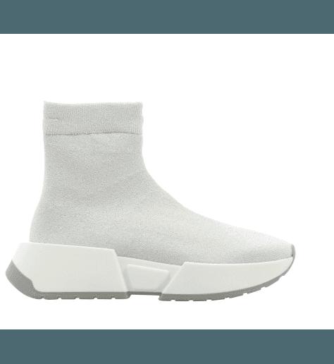 Sneakers blanche façon chaussette logo  S59WS0062/963- MM6 Martin Margiela