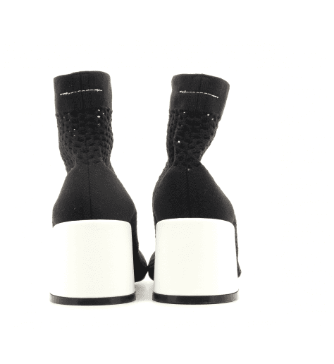 Boots noir façon chaussette logo  S59WS0066/964- MM6 Martin Margiela