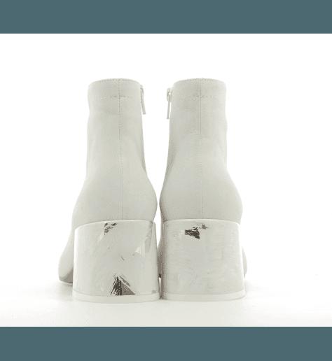 Bottines blanches à talons fort  S40WU0177/T1005 - MM6 Martin Margiela