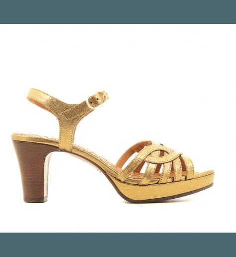 Sandales petits talons en cuir bronze Chie Mihara - INGA34
