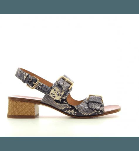 Sandales à petits talons estampille serpent Chie Mihara - QUERINA1