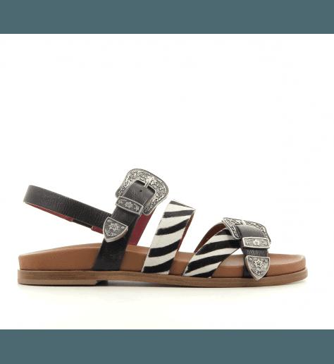Sandales en cuir noir BOGO-254MZE  - Alberto Gozzi