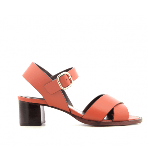 Sandales à talons orange  PAQUES V2B - Avril Gau