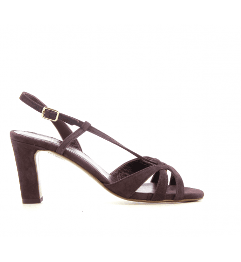 Sandales à talons en veau velours prune Avril Gau - TOP S2 5300ebebcd1