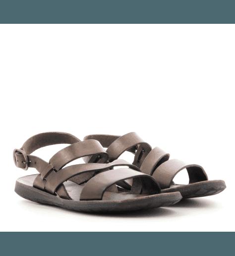 Sandales en cuir marron pour femmes Brador Shoes - 34556