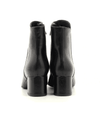 Bottines à talon moyen en cuir noir Garrice Sélection - 6138N